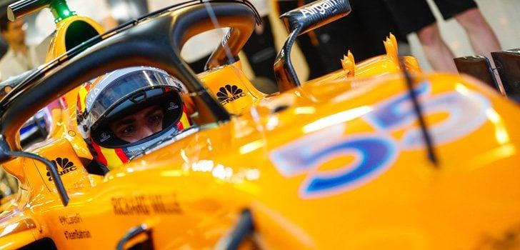Carlos Sainz test abu dabi
