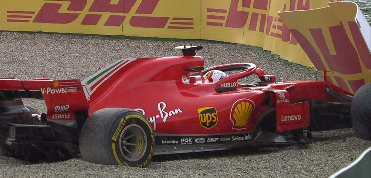 Vettel sufre un accidente en Alemania