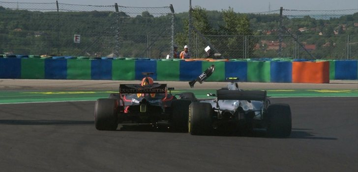 Ricciardo y Bottas se encuentran en pista
