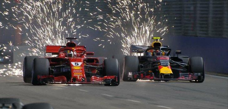 Vettel adelanta a Verstappen en Marina Bay