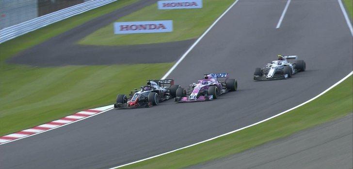Grosjean, Pérez y Leclerc luchan por posición en Suzuka