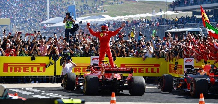 Räikkönen celebra su triunfo en Austin