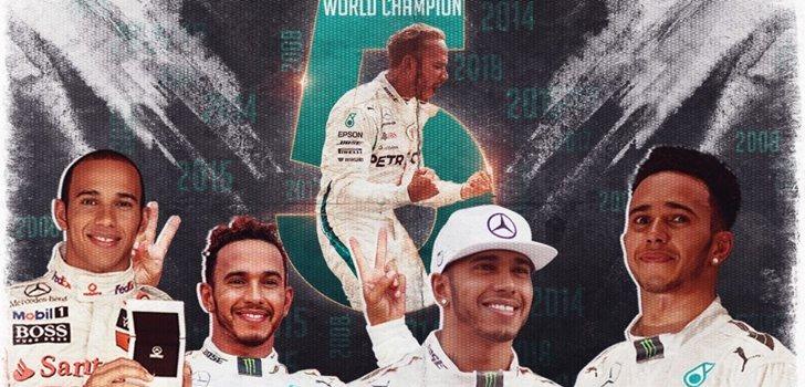 Lewis Hamilton, campeón del mundo por quinta vez