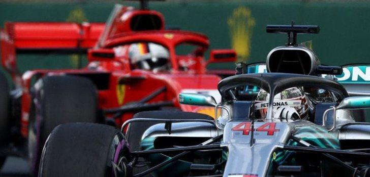 Lucha Hamilton y Vettel