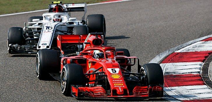 Leclerc y Vettel