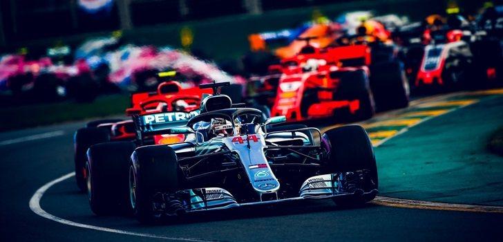 Hamilton, durante un GP de F1