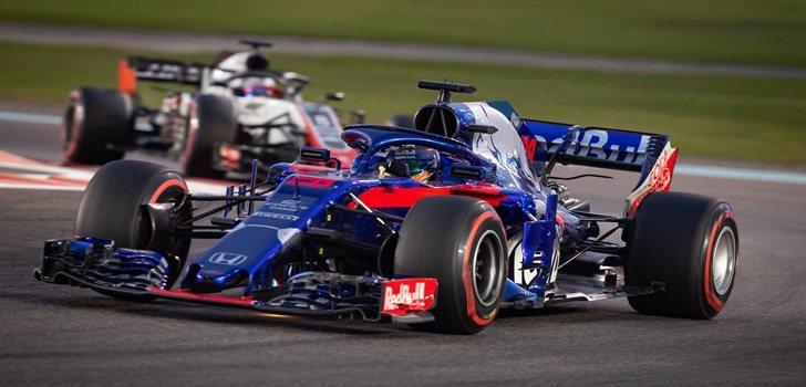 Hartley, durante un GP de 2018