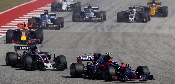 Kvyat, durante su primera etapa en la F1
