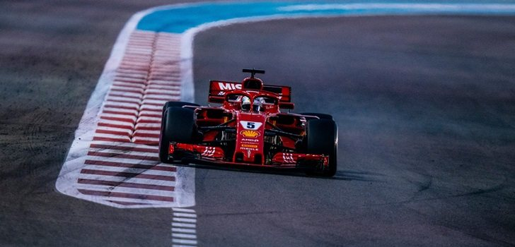 Vettel rueda con Ferrari en Abu Dabi