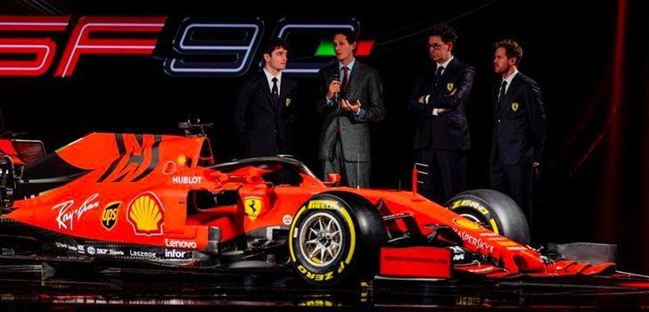 Leclerc y Vettel, junto al SF90
