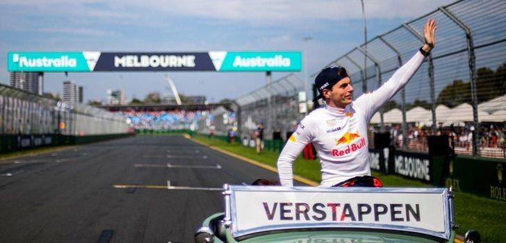 Verstappen, en el circuito de Melbourne