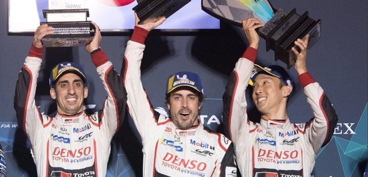 PAlonso, Buemi y Nakajima en el podio de Sebring