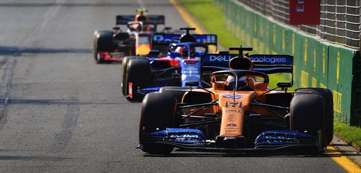 Sainz, durante el GP de Australia 2019