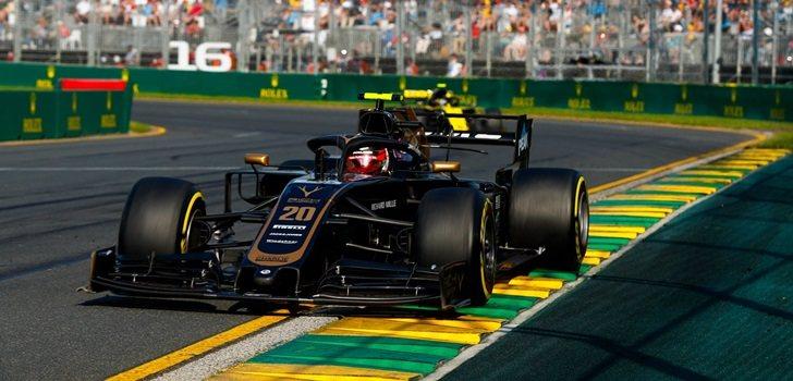 Magnussen rueda en Australia