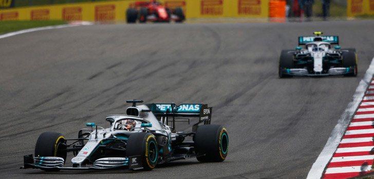 Hamilton, Bottas, Vettel