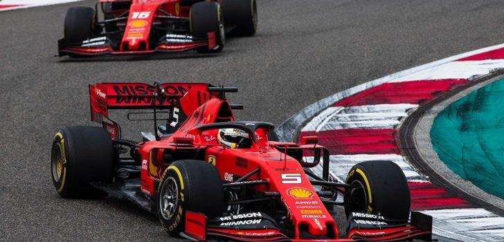 Vettel y Leclerc en Shanghái