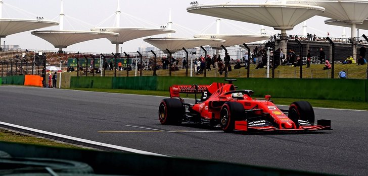 Vettel, en China 2019