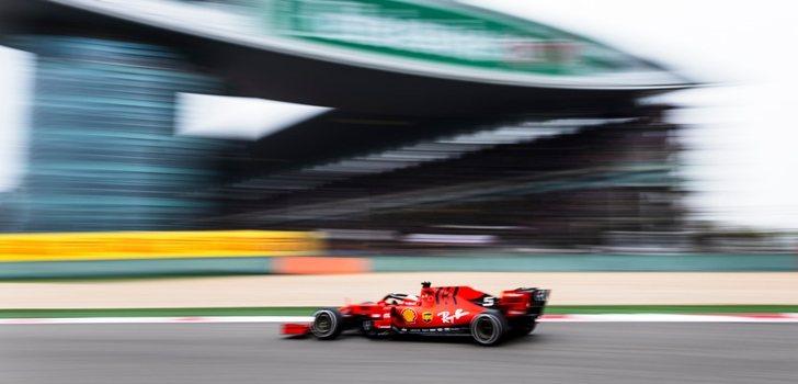 Vettel rueda en Shanghái