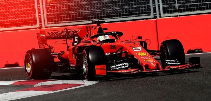 Vettel, en Bakú 2019