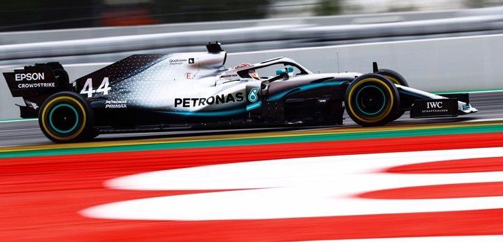 Hamilton, en el GP de España 2019