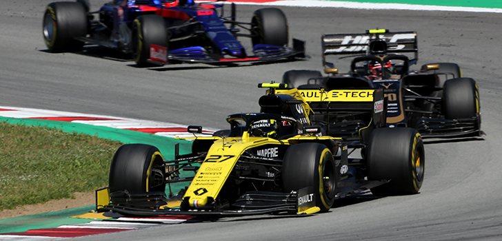 Nico Hülkenberg ha culminado su remontada y ha terminado justo detrás de Ricciardo