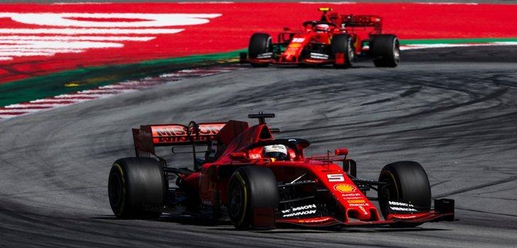 Los Ferrari, en Montmeló