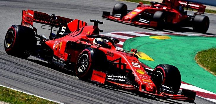 Vettel y Leclerc, en Montmeló