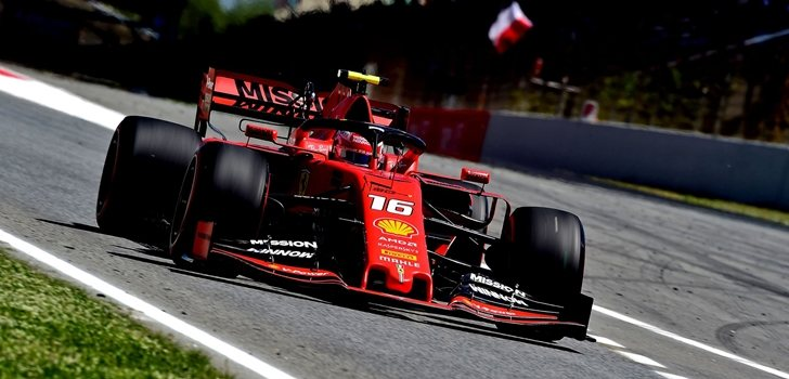 Leclerc, en Montmeló 2019