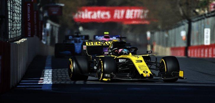 Ricciardo, en Bakú