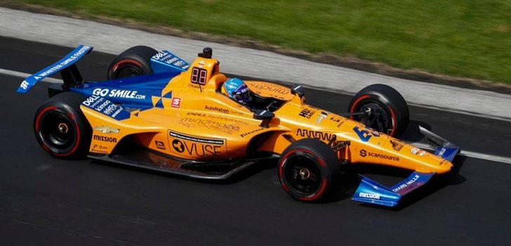 Alonso, en la Indy