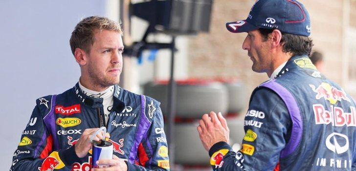 Webber y Vettel durante su etapa en Red Bull