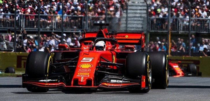 Vettel rueda en Montreal 2019