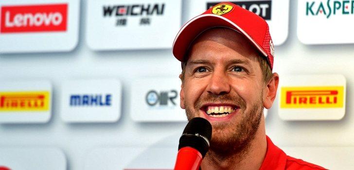 Vettel, en la rueda de prensa de Montreal