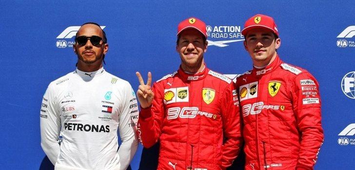 Vettel, junto a Hamilton y Leclerc
