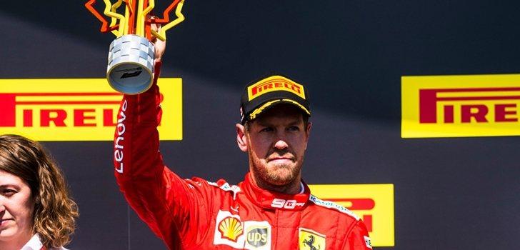 Vettel, en el podio de Montreal