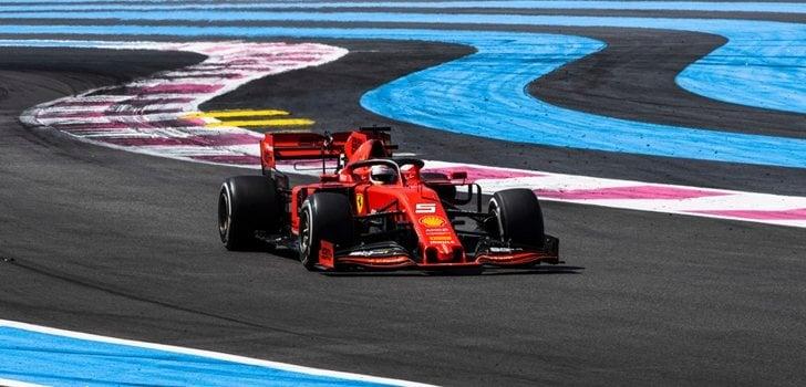 Vettel, en el GP de Francia 2019
