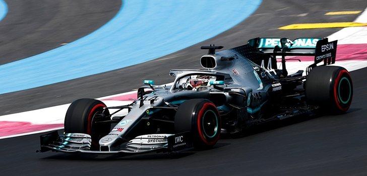 Hamilton, durante el GP de Francia 2019