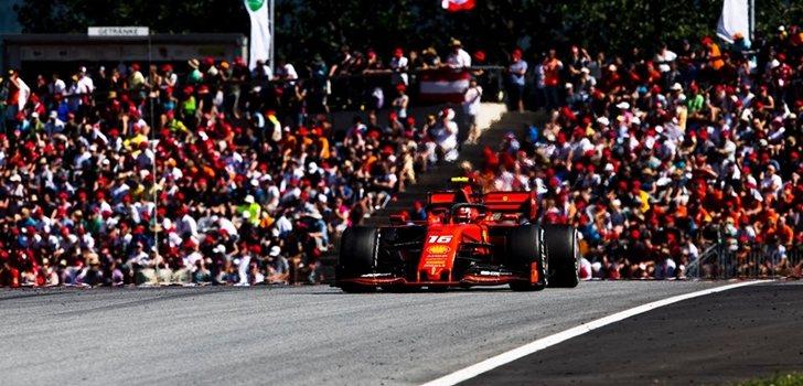 Leclerc, en el GP de Austria 2019