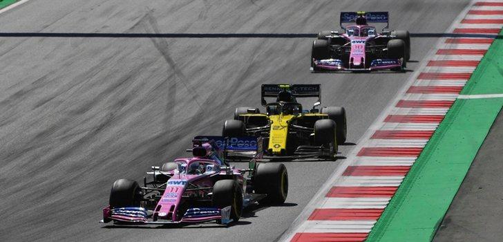 Pérez, en el GP de Austria 2019