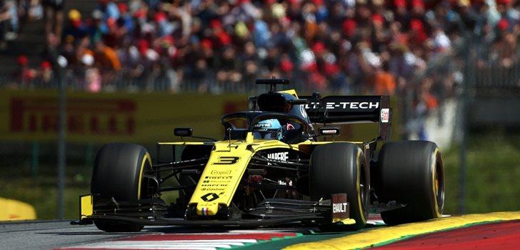 Ricciardo rueda en el Red Bull Ring