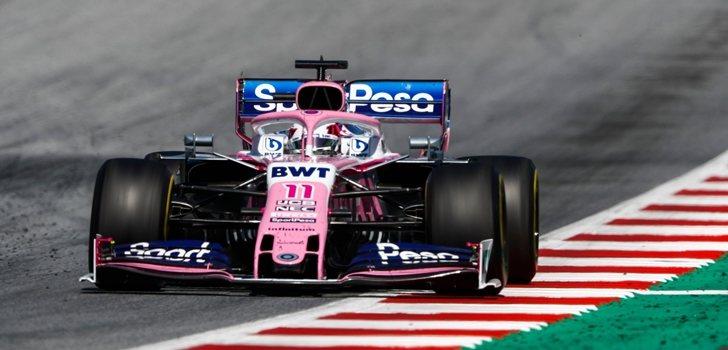 Sergio Pérez, en el GP de Austria 2019