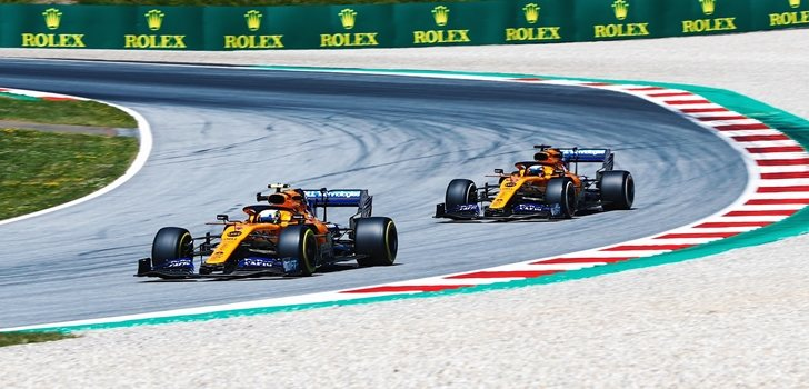 Norris y Sainz, juntos en pista