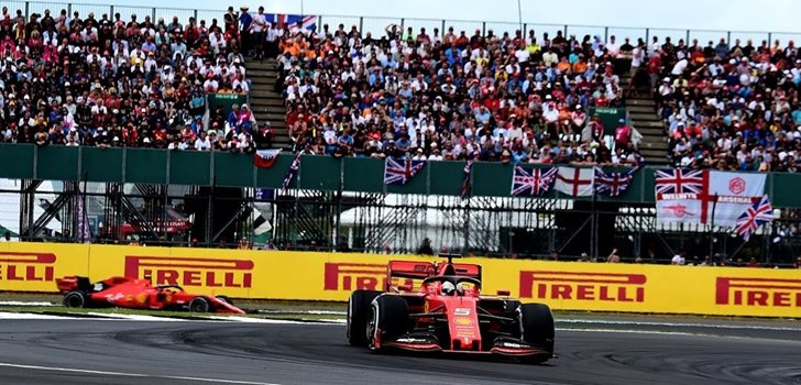 Sebastian Vettel rueda en Silverstone