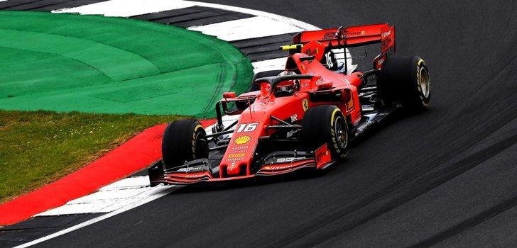 Leclerc, durante el GP de Gran Bretaña