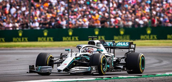 Hamilton, en el GP de Gran Bretaña 2019