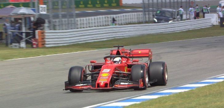 Vettel se queda sin potencia en la qualy del GP de Alemania
