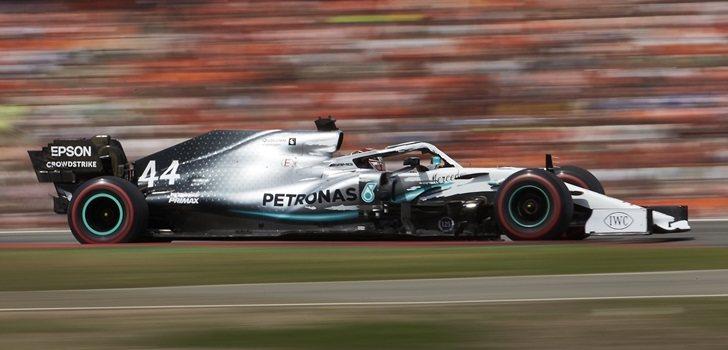 Hamilton, durante la qualy del GP de Alemania
