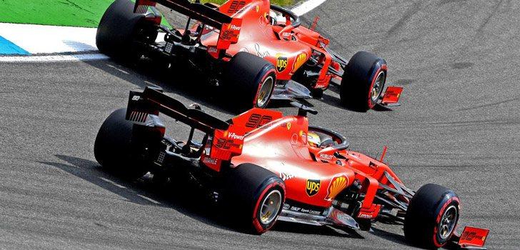 Los Ferrari de Leclerc y Vettel lo intentarán todo para la carrera de Alemania