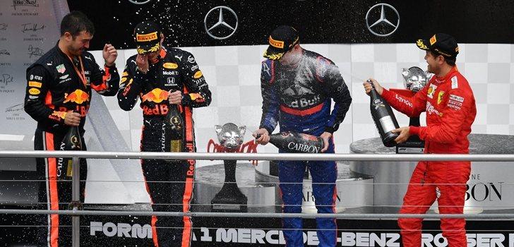 Kvyat festeja su podio en Hockenheim