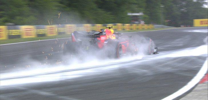 Incidente en la cuarta curva en Hungría
